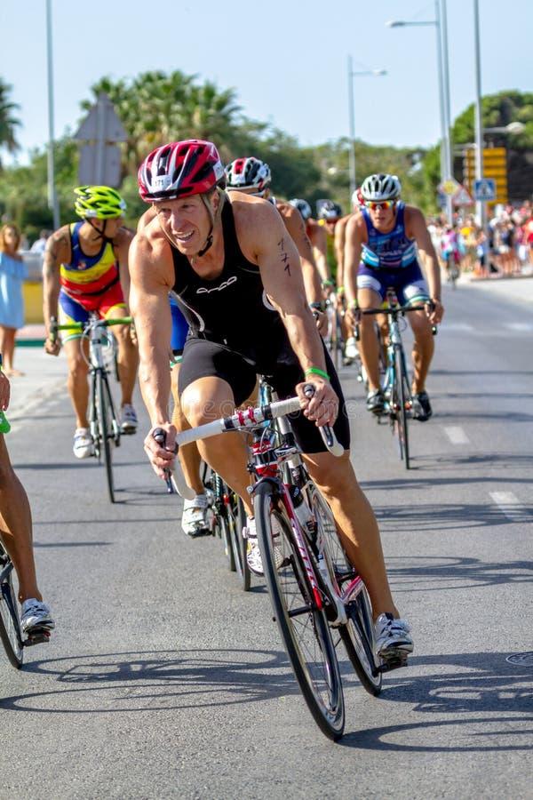 XXI triathlon Herbalife Villa de Rota fotografering för bildbyråer
