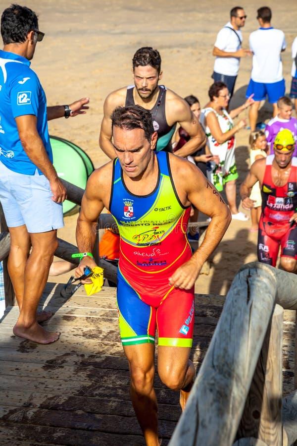 XXI triathlon Herbalife Villa de Rota royaltyfri bild