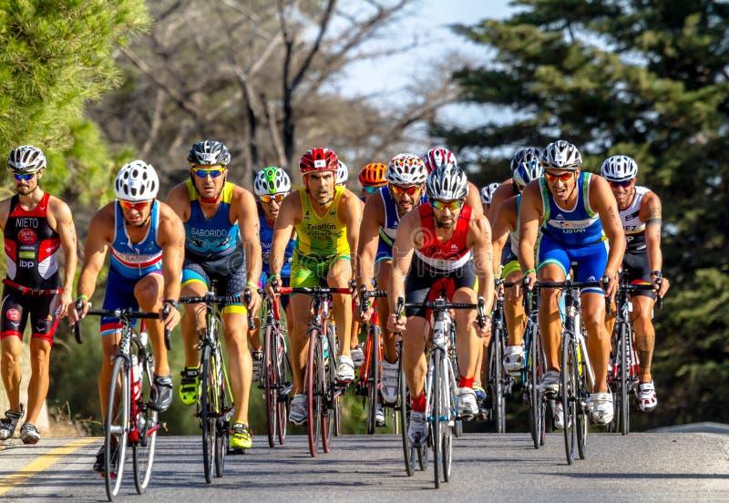 XXI triathlon Herbalife Villa de Rota arkivfoton
