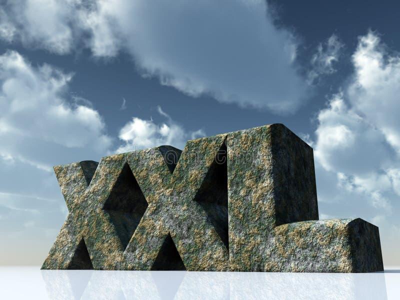 Xxl royalty-vrije illustratie