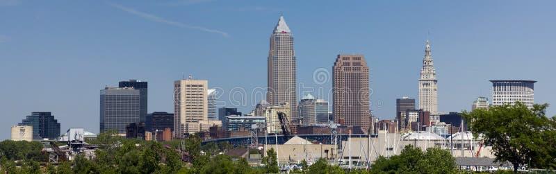 XXL Cleveland Skylinepanorama lizenzfreie stockfotografie