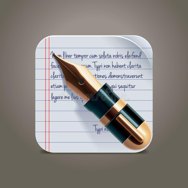 xxl för vektor för fyrkant för penna för springbrunnsymbolsanteckningsbok stock illustrationer