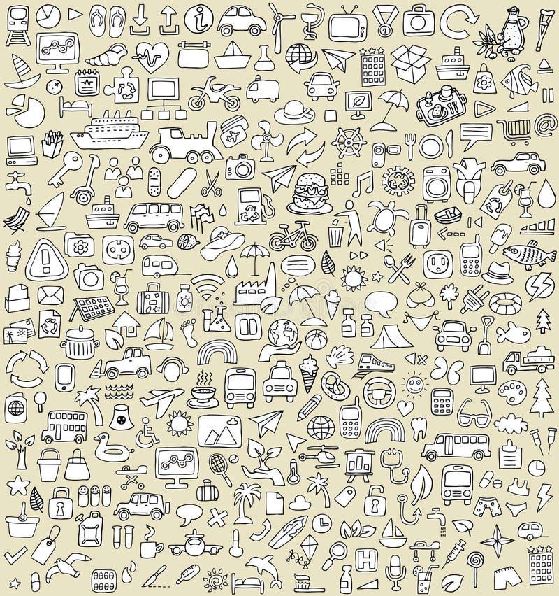 XXL-Krabbelpictogrammen Geplaatst No.3 stock illustratie