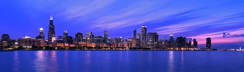XXL - Panorama célèbre de Chicago photographie stock libre de droits