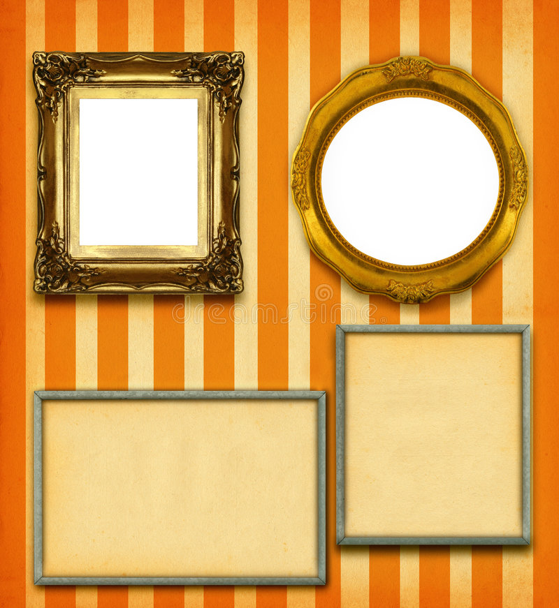 XXL Size Selection Of Picture Frames Stock Photo - Image of copy ...