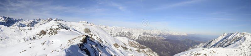 XXL widok wysokogórski łuk w zimie zdjęcia royalty free
