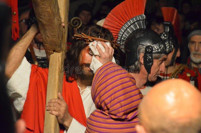 Download XXVIII Edizione Antignano Via Crucis Fotografia Stock Editoriale - Immagine: 57606293
