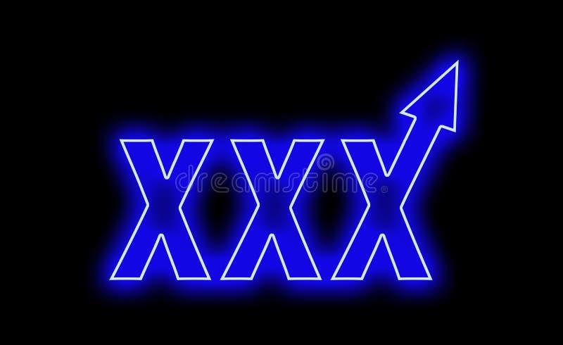 Xxx неон продает быстро поднимает вверх иллюстрация штока