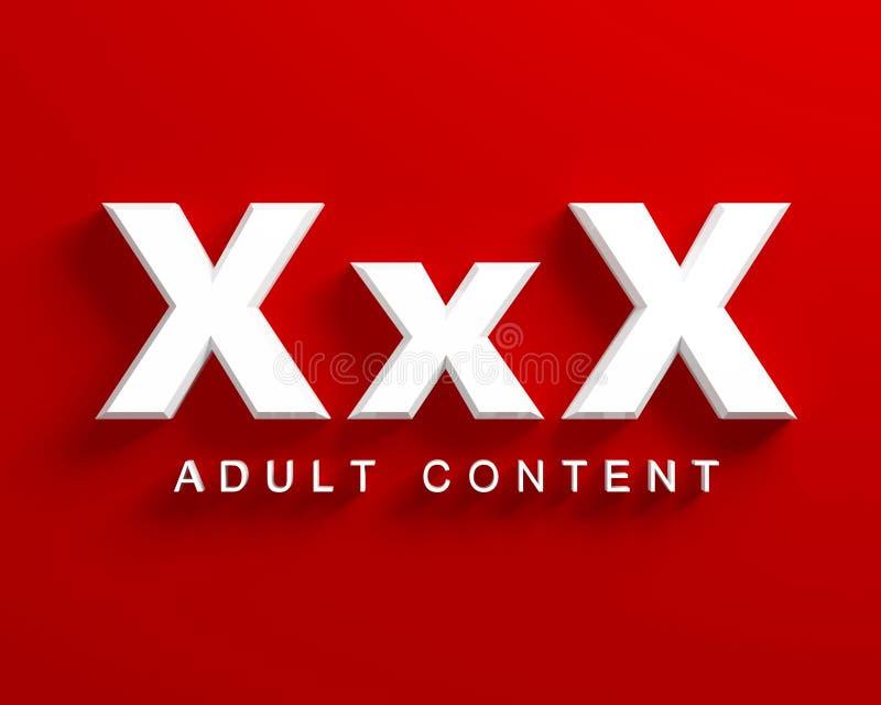 Xxx volwassen inhoud royalty-vrije illustratie