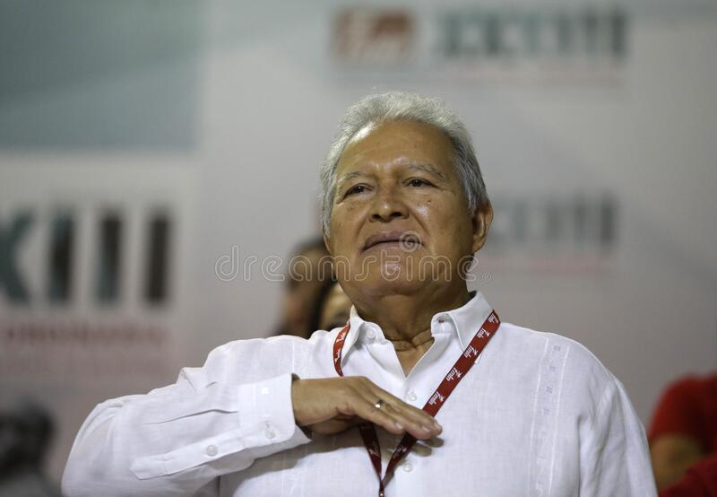 XXXIII Convención Nacional del FMLN fotografia stock libera da diritti