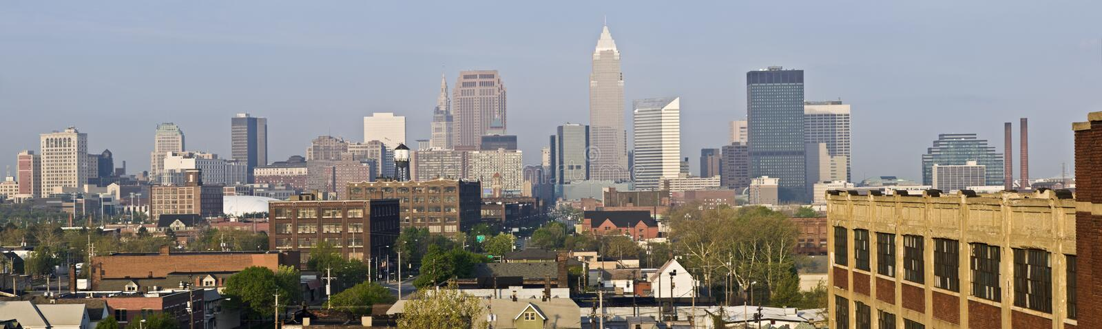 Download XXXL Panorama Of Cleveland Royalty Free Stock Photos - Image: 9273178