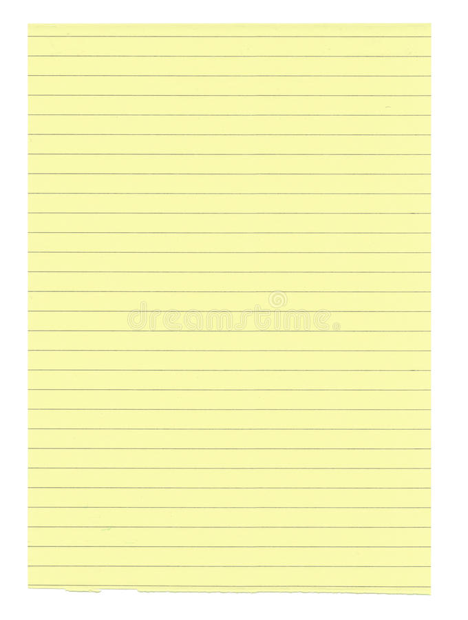 Free XXXL Size Yellow Lined Paper Royalty Free Stock Image - 12744296