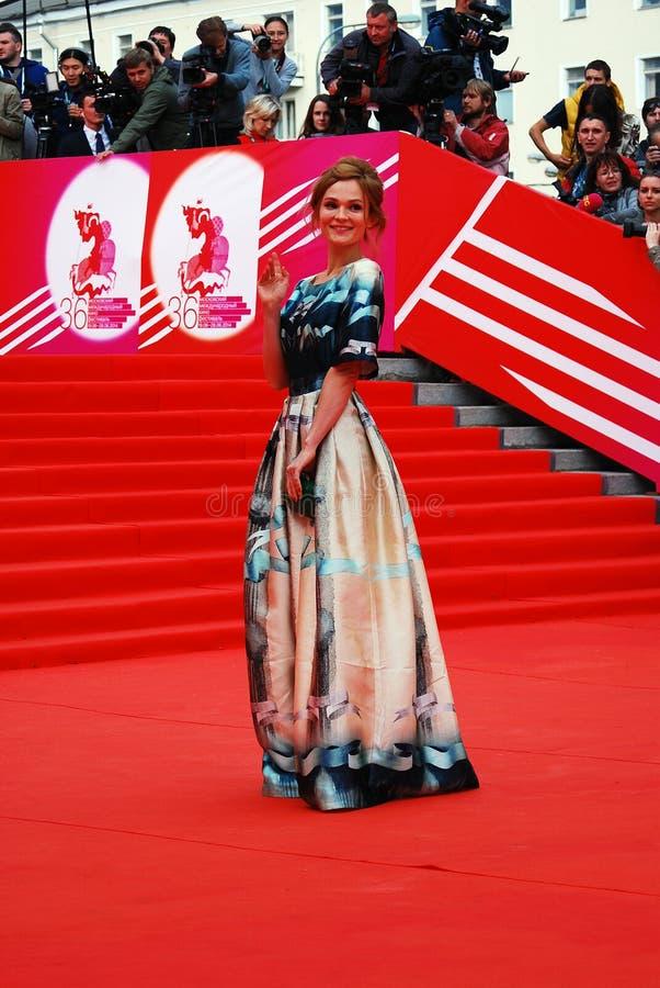 XXXVI Moskwa Ekranowego festiwalu Międzynarodowy otwarcie obrazy stock