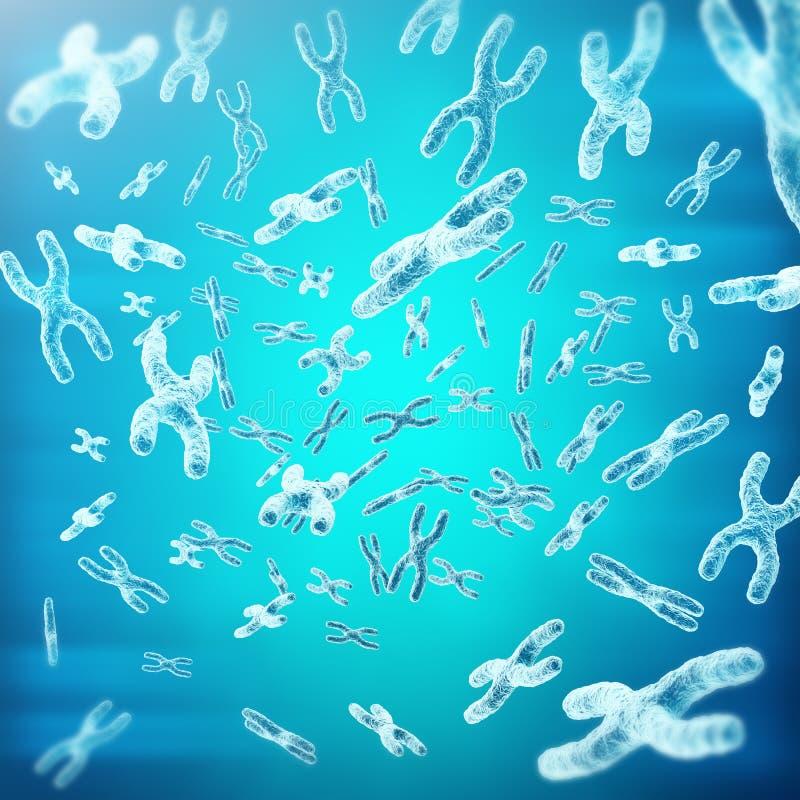 XY-cromosomas como concepto para la investigación médica de la genética de la terapia génica o de la microbiología del símbolo de ilustración del vector