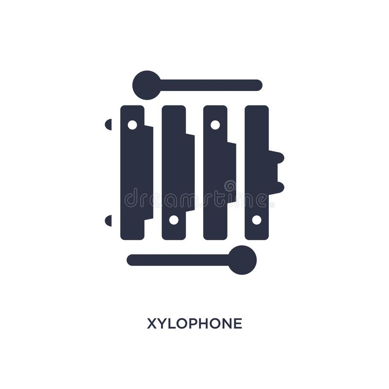 xylofoonpictogram op witte achtergrond Eenvoudige elementenillustratie van braziliaconcept stock illustratie