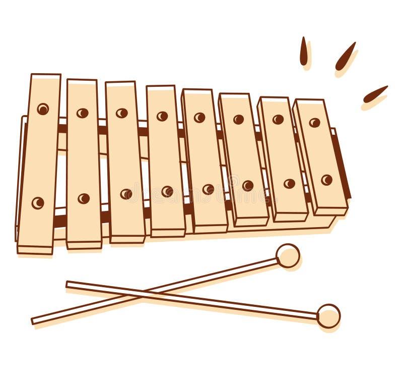 Xylophone που απομονώνεται απεικόνιση αποθεμάτων