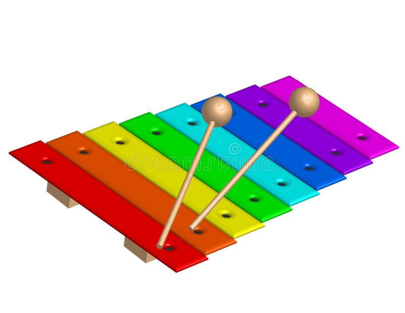 Xylophone illustration libre de droits