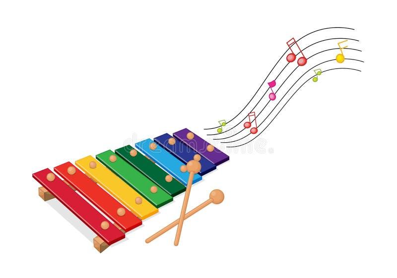 Xylophone illustrazione di stock