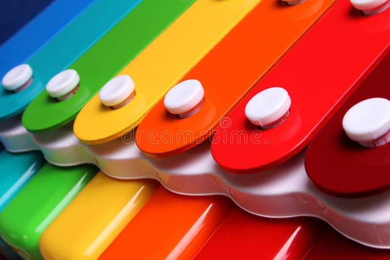 Xylophone colorido imagem de stock royalty free