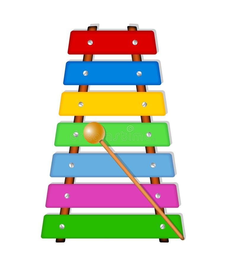 Xylophone colorido ilustração royalty free