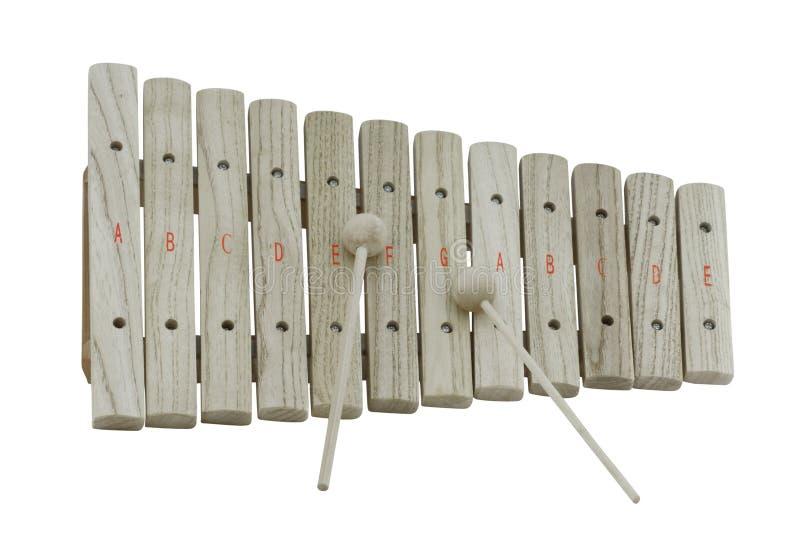 Xylophone de madeira fotografia de stock