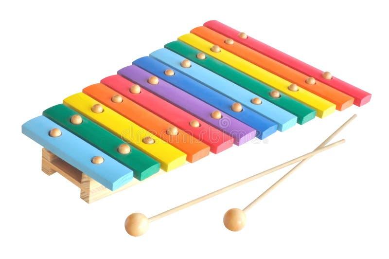 Xylophone de madeira do brinquedo fotografia de stock royalty free
