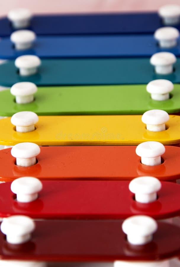 Xylophone do arco-íris imagens de stock royalty free