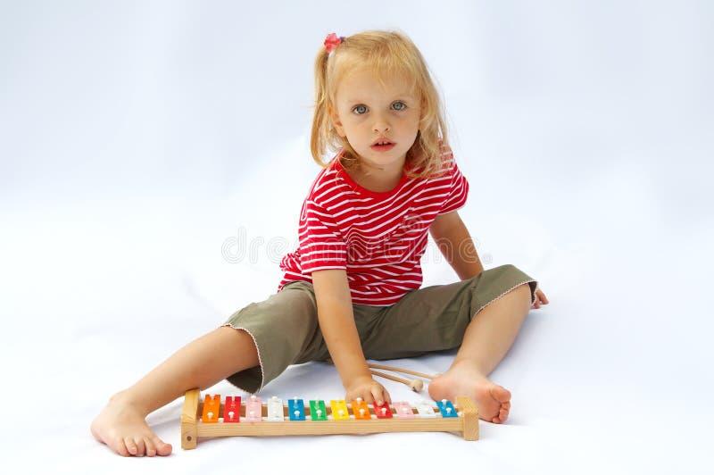 Xylophone do arco-íris fotografia de stock royalty free