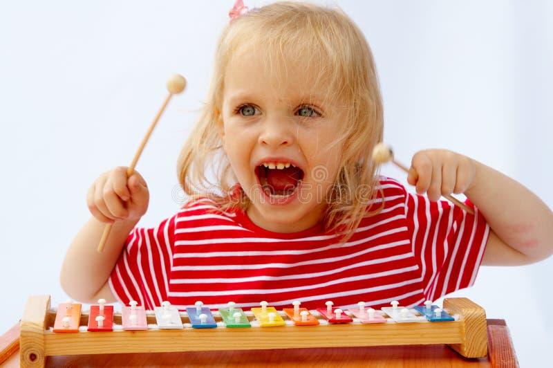 Xylophone do arco-íris foto de stock