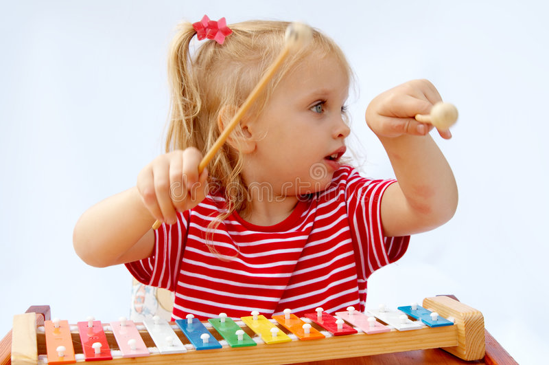 Xylophone do arco-íris imagens de stock