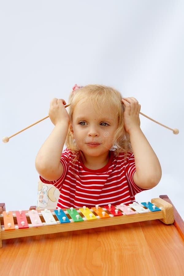 Xylophone do arco-íris imagem de stock