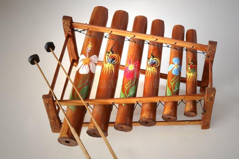 Xylophone en bambou photographie stock