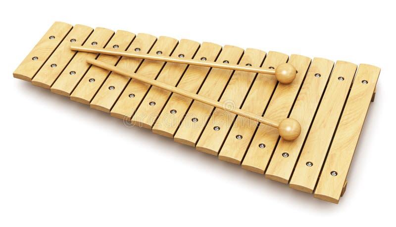 Xylophone en bois illustration de vecteur