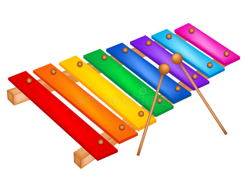 Xylophone stock vector. Illustration of drawing, isolated - 50726946