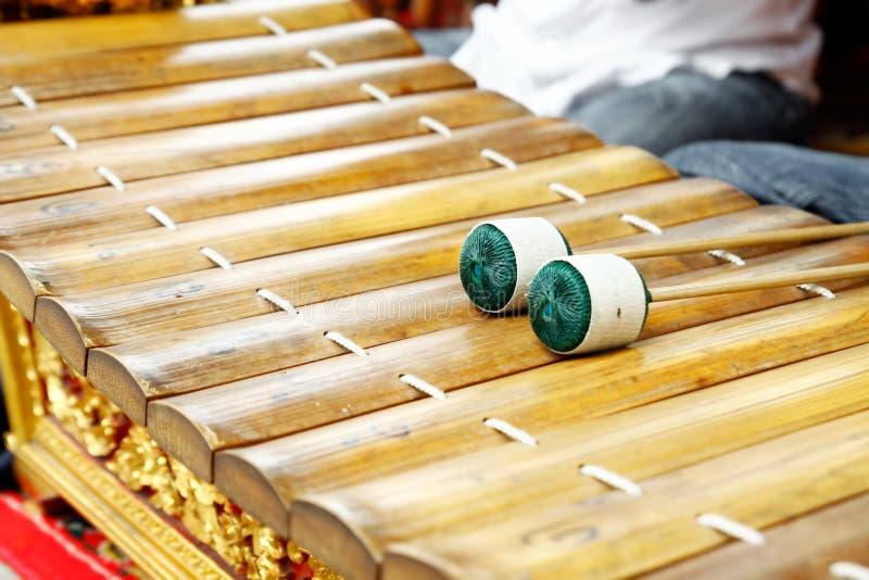 Xylophone tailandês foto de stock