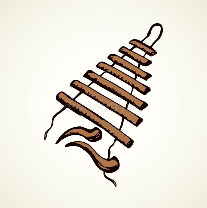 xylophone Vector tekening stock illustratie