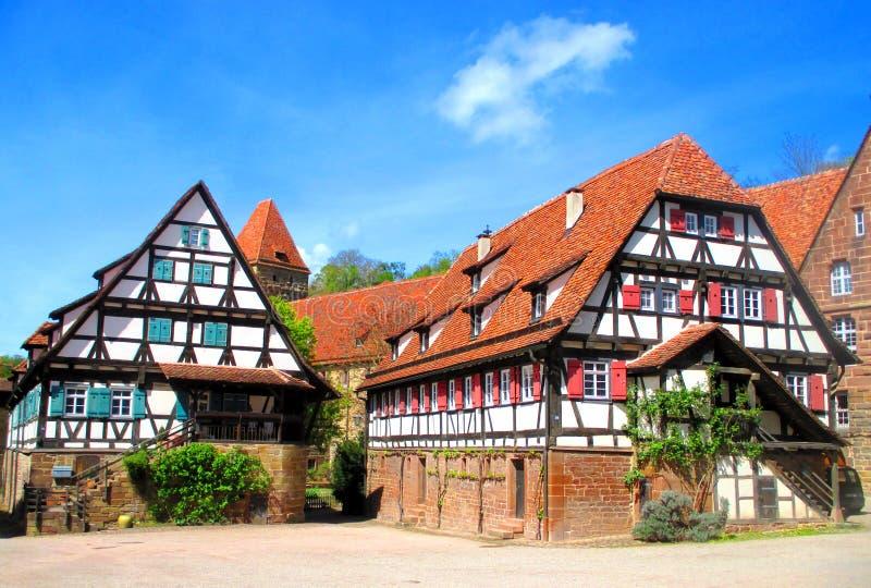 Żyć domy w Maulbronn monasterze obrazy royalty free