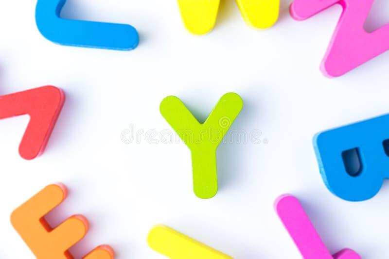 Y信件用英语 免版税库存图片