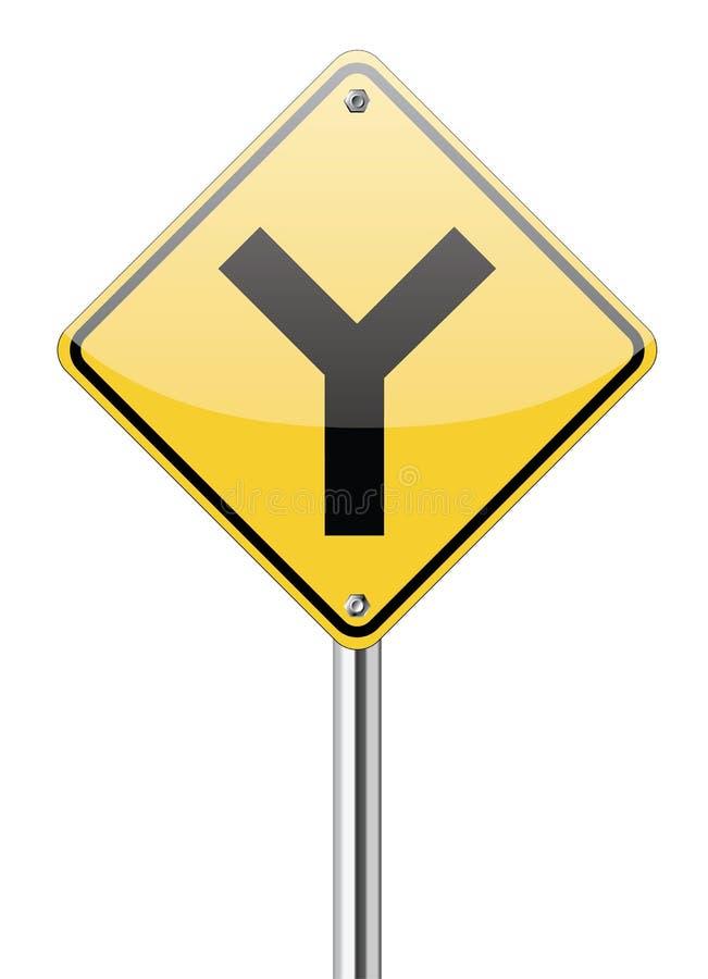 Y叉子连接点符号 皇族释放例证