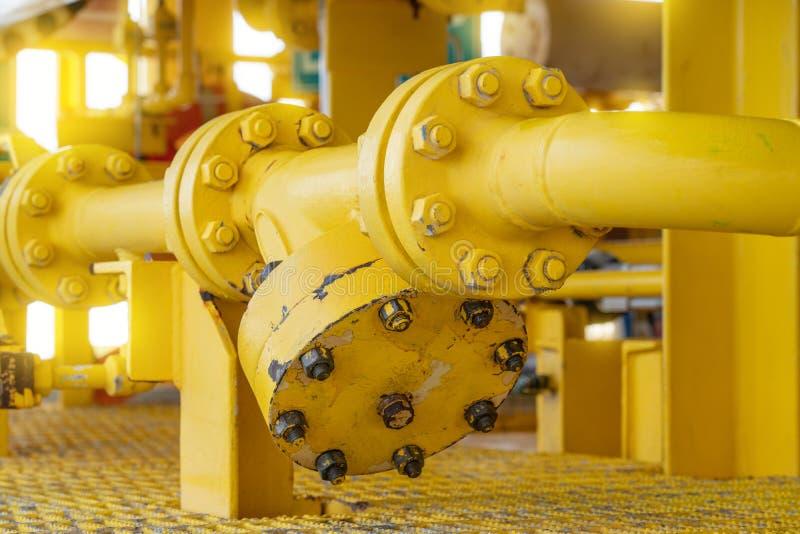Y тип штаминер для фильтрующих дерби, загрязненных в воде, чтобы предотвратить повреждение насоса, оффшорного нефтегазового обору стоковые изображения