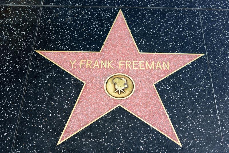 Y Frank Freeman-ster op de Hollywood-Gang van Bekendheid royalty-vrije stock foto