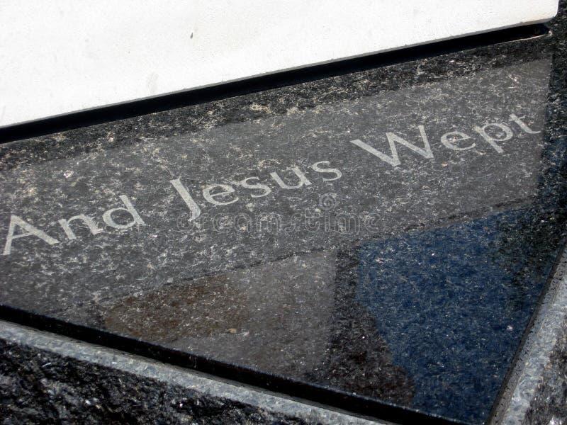 Y Jesus Wept foto de archivo libre de regalías