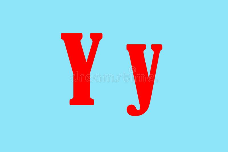 Illustration of the `y` letter stock photography