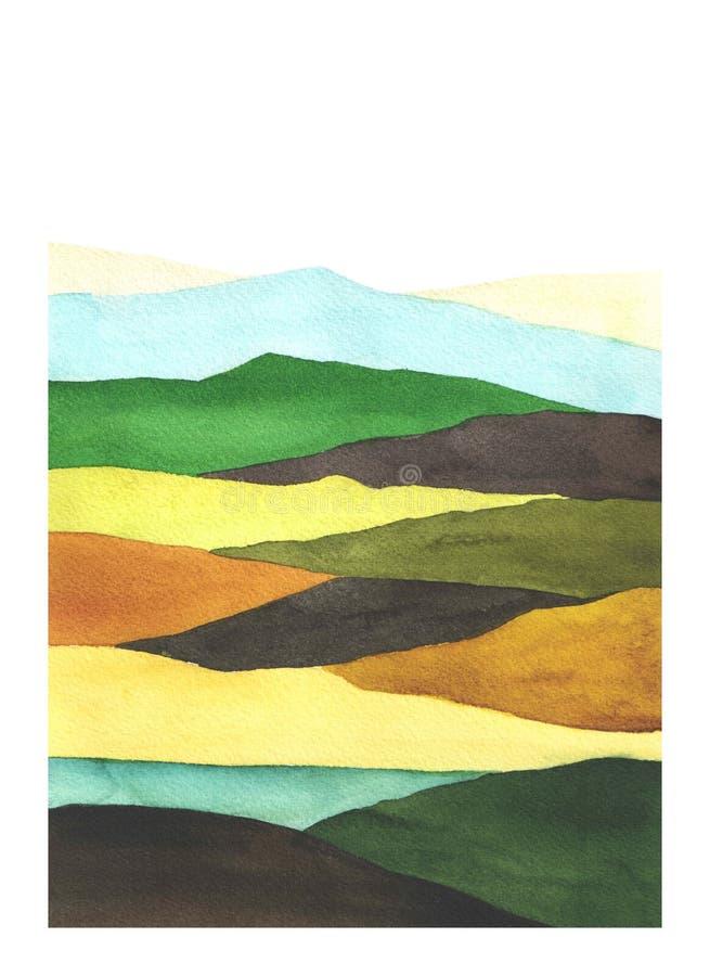 Y marrón campo bloqueado color verde fotografía de archivo