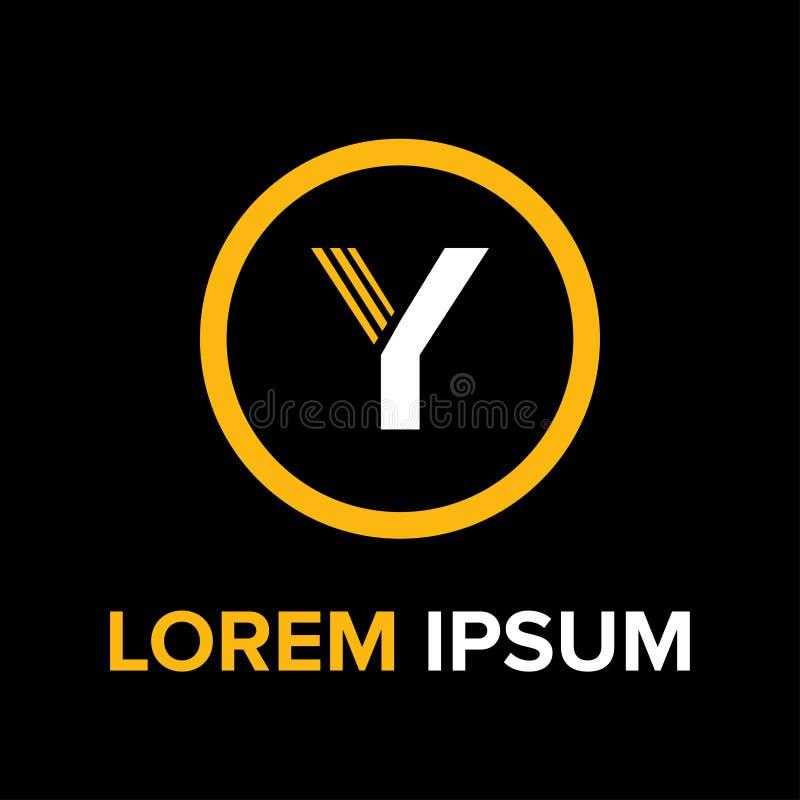 Y segna il logo con lettere per l'affare fotografie stock libere da diritti
