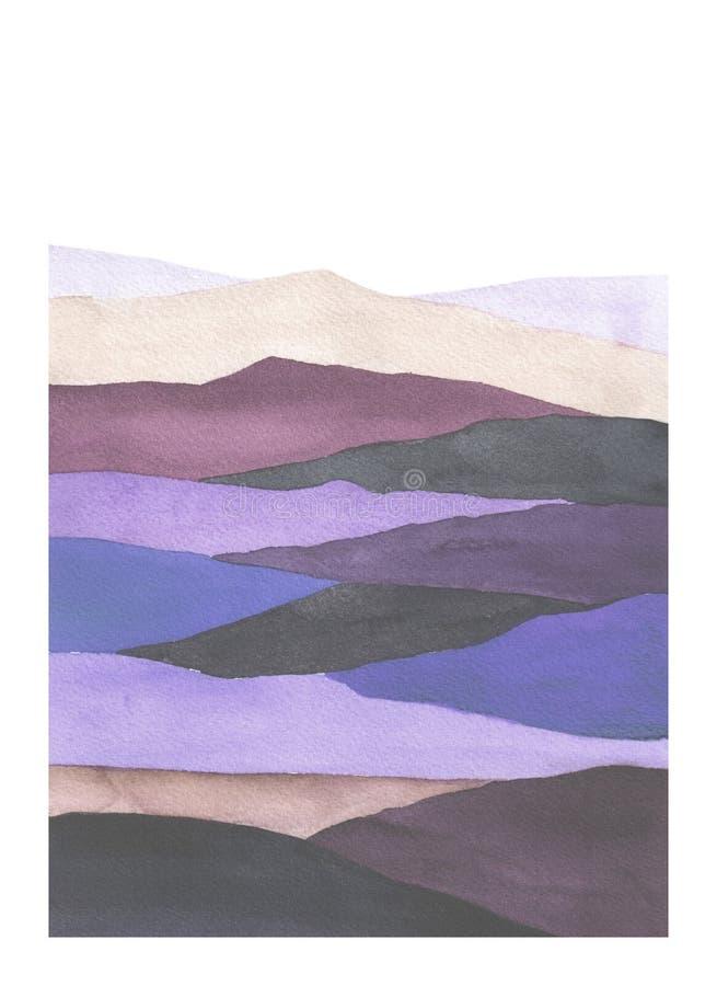 Y violeta campo bloqueado color azul imágenes de archivo libres de regalías