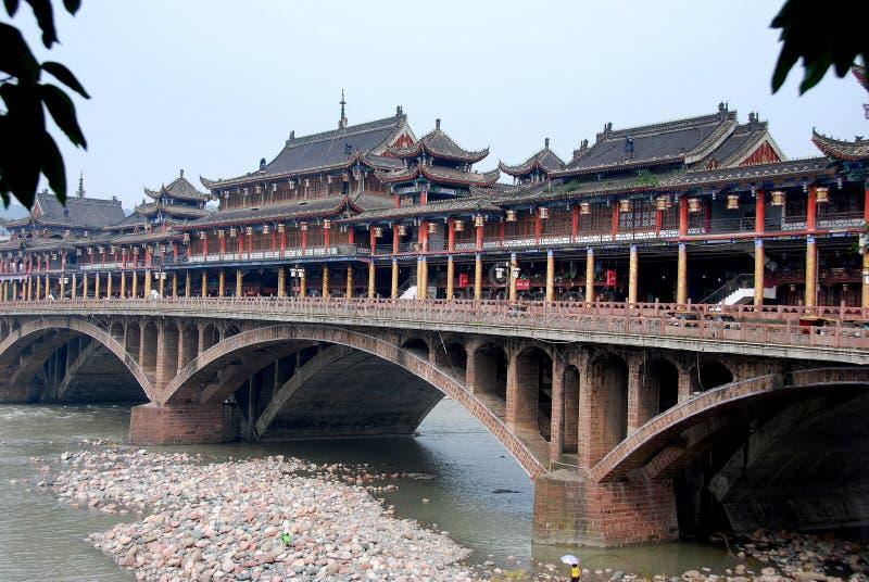 Ya'an, China: Ponte velha de Ya'an fotos de stock royalty free