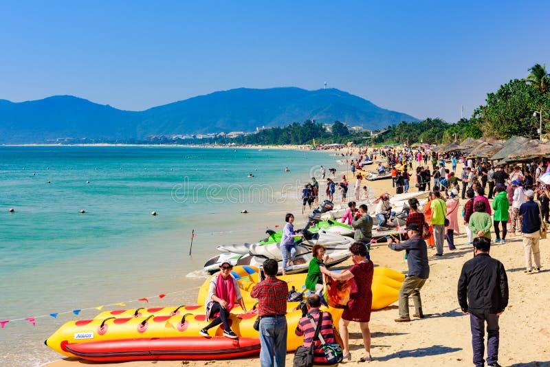 Ya Long Bay Beach, isola Hainan, Cina fotografia stock