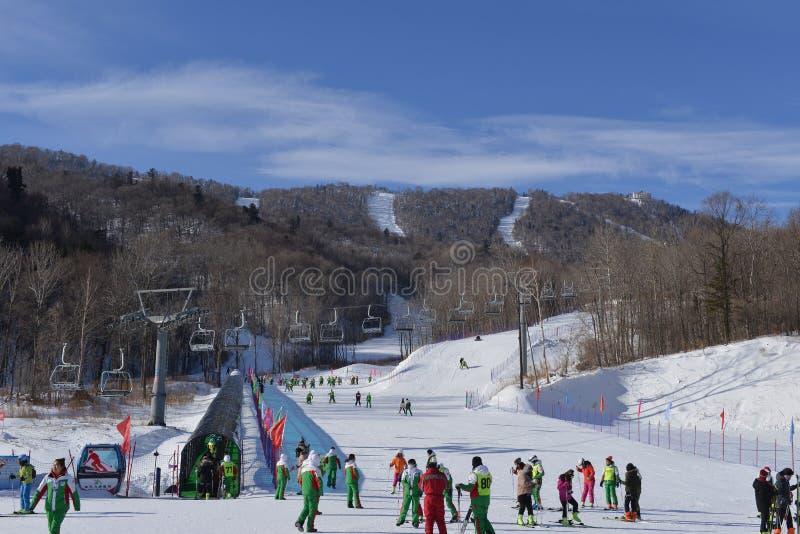 Yabuli ośrodek narciarski zdjęcie royalty free