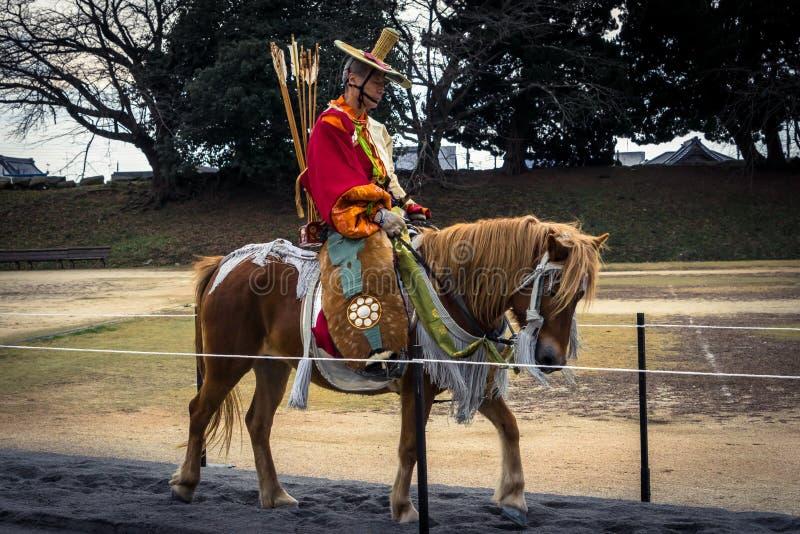 Yabusame-Pferderuecken-Bogenschießenfestival lizenzfreies stockbild